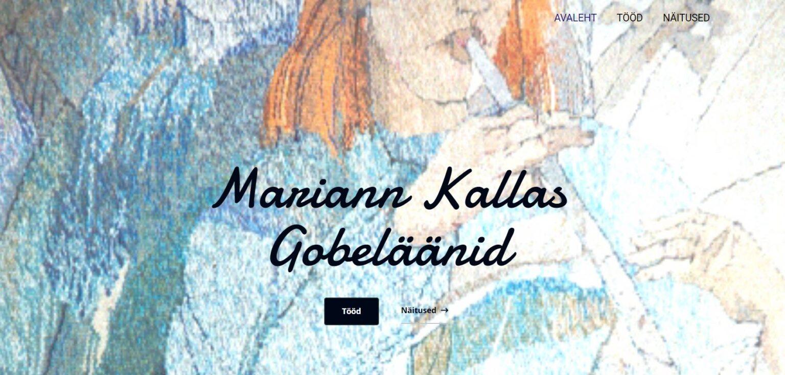 Mariann Kallas esileht